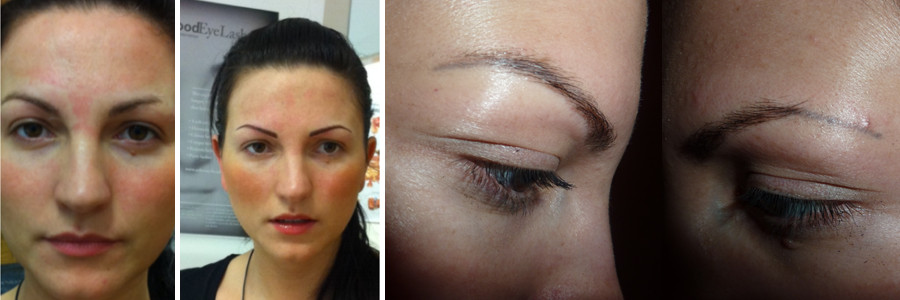 HD brows vs tattoo brows before and after.
